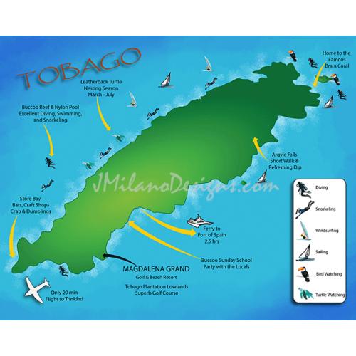 Magdalena Grand Resort of Tobago Map