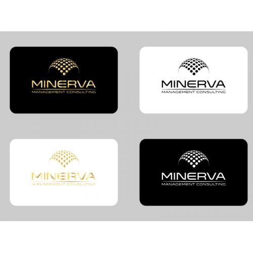 minerva business card and logo design